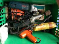 Mixture of power tools