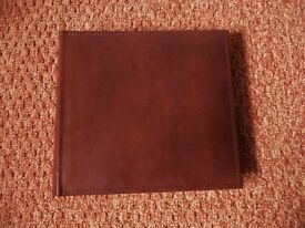Brown Mock / Simulated Leather Photo Album Holds 200 Photos with Space For Memo Notes by each Photo