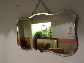 Large shaped vintage wall mirror