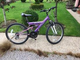 Venture Skylark full suspension childs mountain bike 8-13 yrs