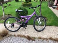 Venture Skylark full suspension childs mountain bike 8-13 yrs