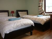 about 750 pounds per month per room two bedroom with 2 to 4 beds city centre short term available