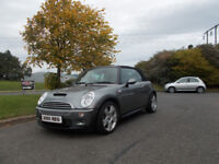 MINI COOPER S CONVERTIBLE LIMITED EDITION SAT NAV STUNNING GREY 2005 BARGAIN £2650 *LOOK*PX/DELIVERY