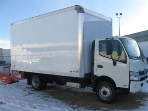 2017 Hino 165-149 Cab/over with a 16 ft. dry van body and...