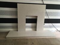 SOLID MARBLE FIRE SURROUND AND HEARTH