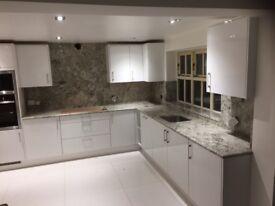 Granite, Quartz, Marble kitchen worktop,fireplace,bathroom