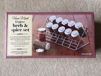 Herb/Spice Rack with Bottles - Brand New In Box