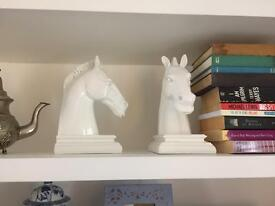 White horse book ends for sale