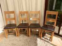 Westbury Oak Dining Chairs x 4