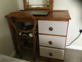 Pine solid wood desk