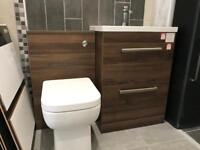 Pacifi B Toilet and basin bathroom set