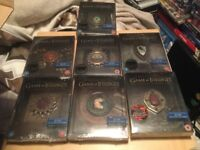 Game of Thrones seasons 1-7 blu ray limited steelbooks new and sealed