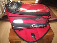 tank bag oxford red/black magnetic