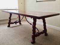 Mahogany dining table (maker Theodore Alexander) 213x92x74cm Exc cond