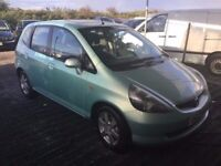 02 REG HONDA JAZZ 1400 cc LOW MILEAGE ONLY 72000 FROM NEW LOVELY SMOOTH DRIVING CAR IN VGC LONG MOT