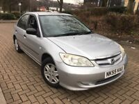 2005 55 HONDA CIVIC S 1.4 PETROL AUTOMATIC 60,000 WARRANTED MILES