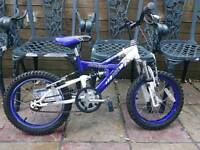 Child's mountain bike dual suspension ages 3 to 6 years