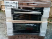 Bosch Black & Silver Electric Single Oven & 4 Burner Black Gas Hob