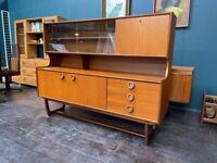 Highboard Sideboard in Teak by Portwood Furniture. Retro Vintage Mid Century 1960s