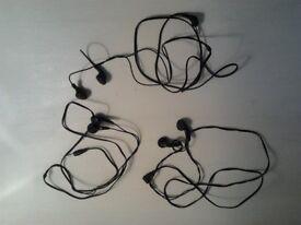 headphones x 3