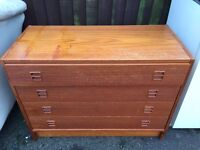 Wooden chest of draws (can deliver)