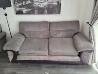 DFS grey fabric couch