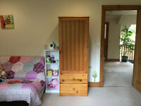 Mothercare dresser with changing unit and wardrobe in country pine wood