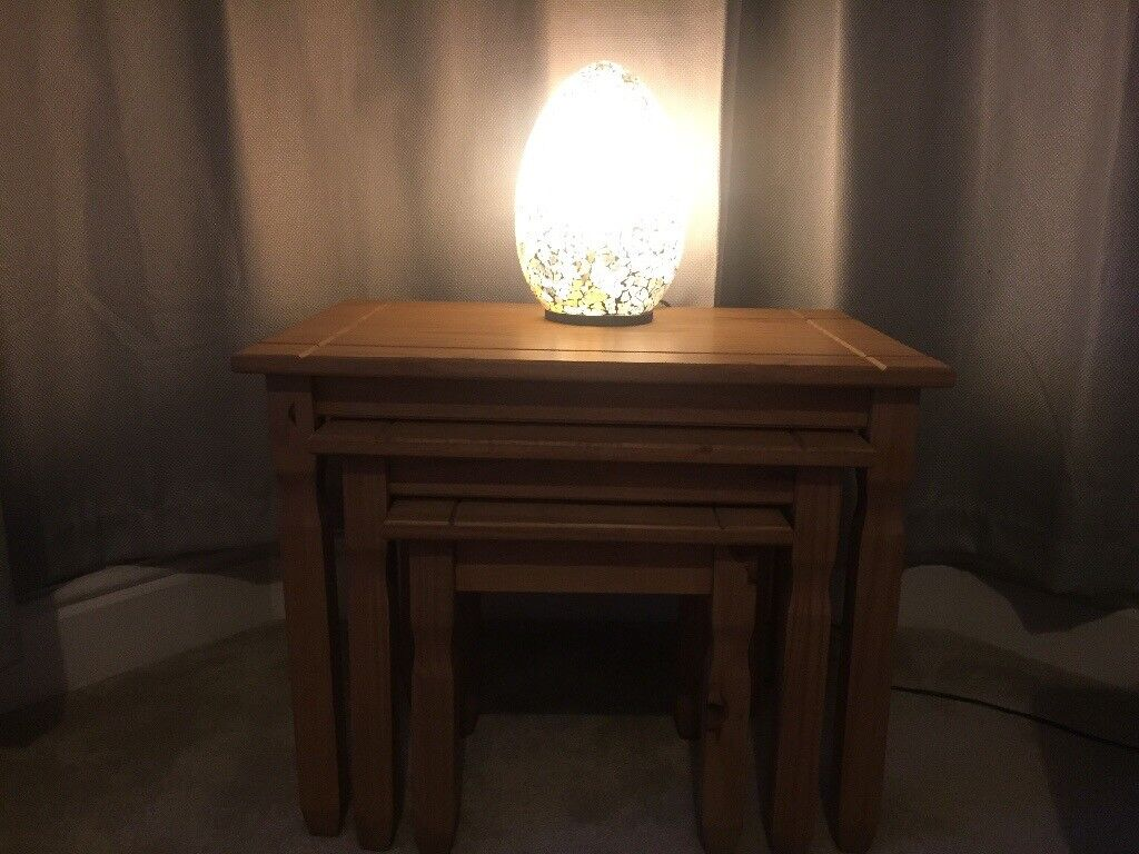 Nest of wooden tables for sale