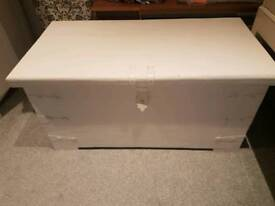 Very large, very heavy old wooden chest