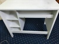 IKEA White Desk in near perfect condition (Collection Only) (Must go URGENTLY!)
