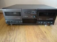 SONY TC-D607 DOUBLE CASSETTE DECK IN VGC HIFI SEPERATE