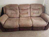 3 seat recliner 2 recliners chairs
