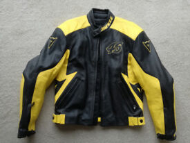 New Dainese Valentino Rossi 46 Sun and moon leather Jacket Medium, euro size 50