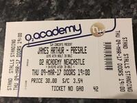 James Arthur ticket