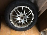 Goodyear 195/60/15 new tyre on Ford Focus rim