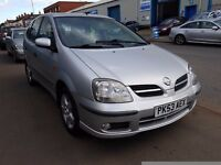 Nissan Almera Tino Facelift 1.8 SVE 5dr -- Priced To Sell.