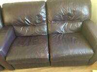 Real leather sofas set:)