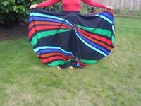 Gypsy Flamenco Skirt, size extra small