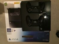 PS4 500GB Jet Black with 2 Dualshock controllers and 4 FIFA games (2014 to 2017) £180