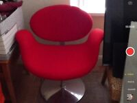 Red designer swivel chair