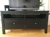 Ikea Hemnes dark brown wood TV stand in very good condition for sale