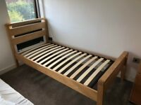 Single bed frame (with optional mattress)