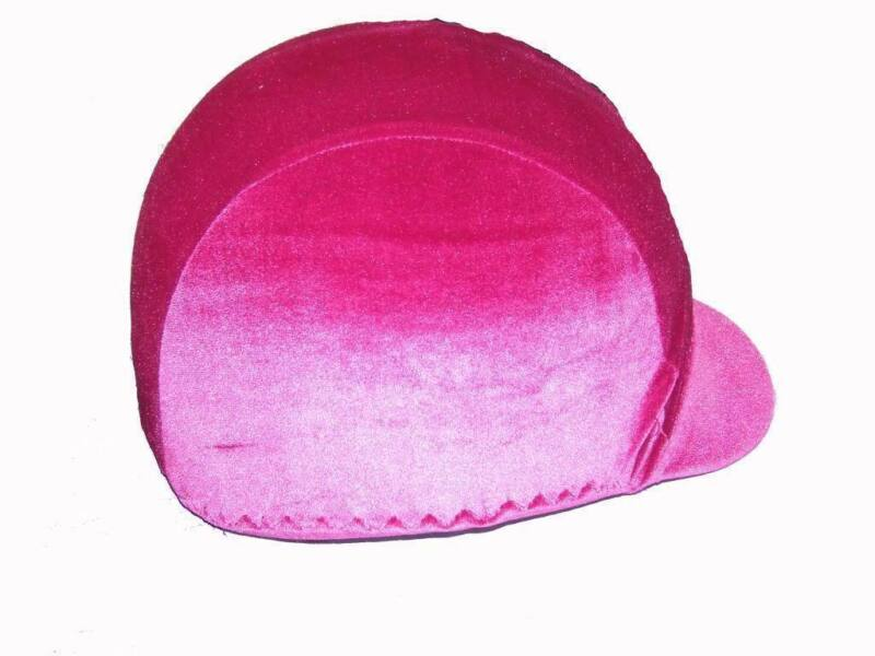 Ecotak velvet lycra helmet cover - Magenta Ecotak
