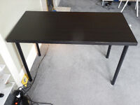 2x Tables (black/light brown) - very good condition (one year old)