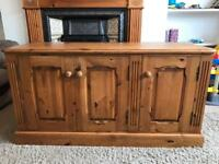 Beautiful Solid Pine TV Cabinet - Excellent Quality