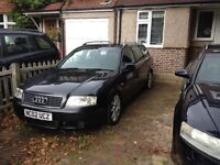 Audi A6 Avant black spare or repair