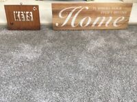 """*** FREE ITEMS TO COLLECT..... WOODEN KEY HOLDER & : HOME """" SIGN PLAQUE ***"""