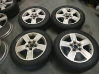 "Genuine OEM Audi A4 16"" 5x112 alloy wheels + 205/55R16 tyres"