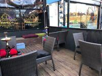 Shisha Lounge Coffee Shop Business For Sale - Heavy Footfall Area - 2 Floors - Outdoor Area