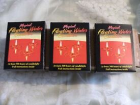 3 PACKs MAGICAL FLOATING WATER CANDLES (Brand New & Boxed)